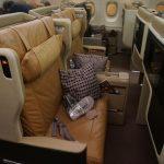【シンガポール航空A380ビジネスクラス搭乗記】豪華なシートにロブスターの機内食!(SIN-KIX)