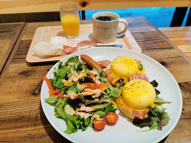 シアトルズベストコーヒーの朝食