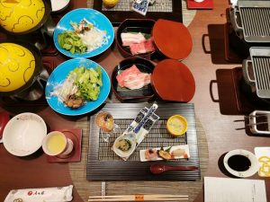 おごと温泉 湯元館の夕食