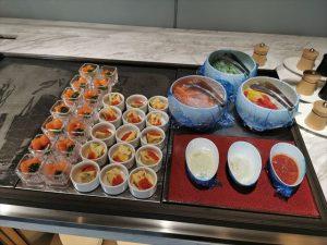 ダイワロイヤルホテルグランデ京都のラウンジ 料理