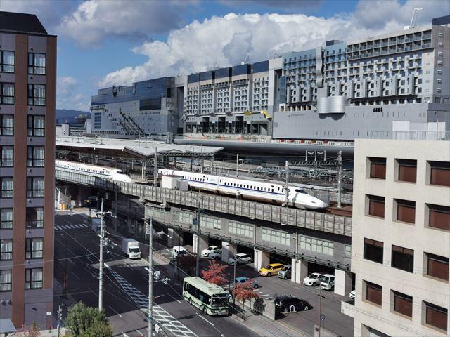 ダイワロイヤルホテルグランデ京都の部屋からの景色