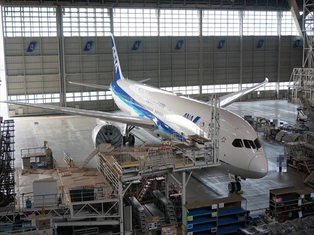 間近で飛行機を見ることができる「ANA機体工場見学」は凄かった!