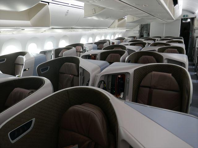 【シンガポール航空ビジネスクラス搭乗記】美味しい点心の朝食(PVG-SIN)