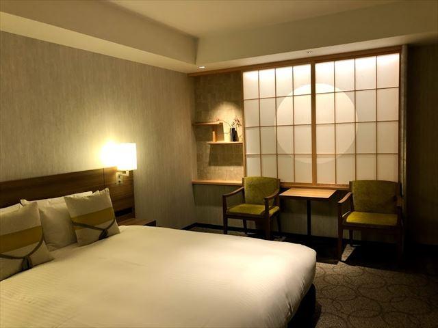 「三井ガーデンホテル京都駅前」の和モダンなお部屋に宿泊