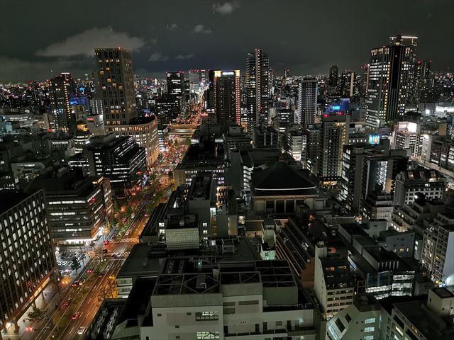 ロイヤルパークホテルアイコニック大阪御堂筋の部屋からの眺め
