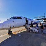 2020年初フライトは、ボンバルディアDHC8-Q400(伊丹-大分)
