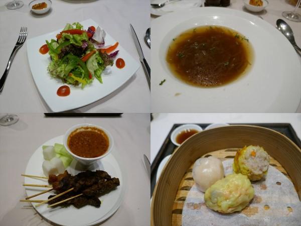 シンガポール空港のプライベートルーム 料理