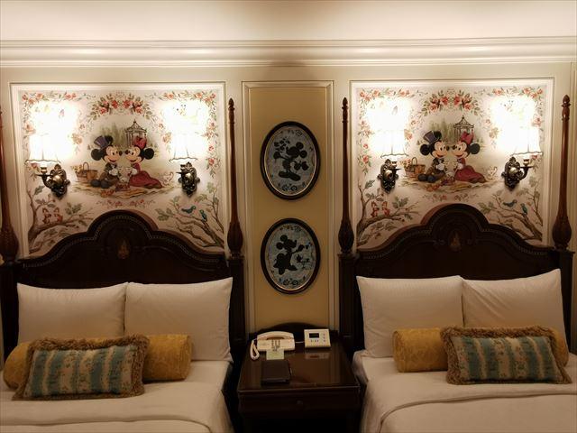 ディズニーランドホテルの部屋