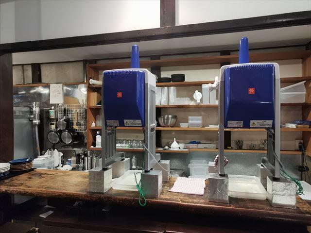 四条堀川茶屋のかき氷機