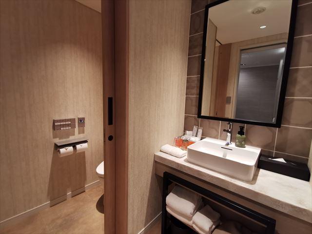 ホテルエミオン京都の洗面台